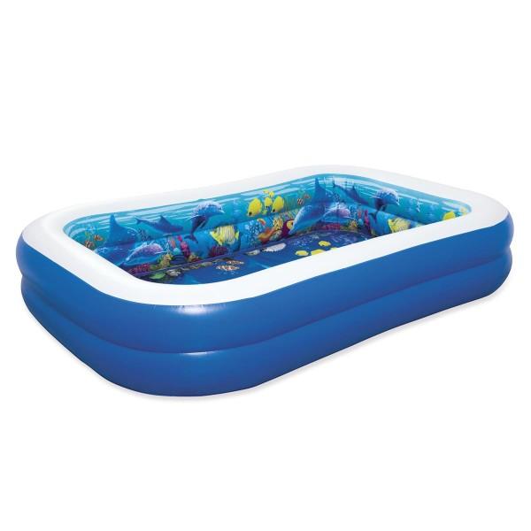 Bestway® Family Pool, 3D Abenteuer, 262 x 175 x 51 cm