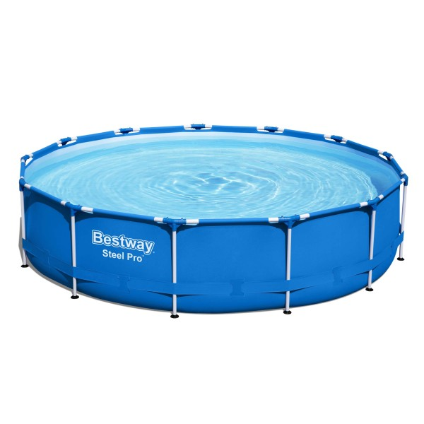 Steel Pro™ Frame Pool, 396 x 84 cm, Set mit Filterpumpe, rund, blau