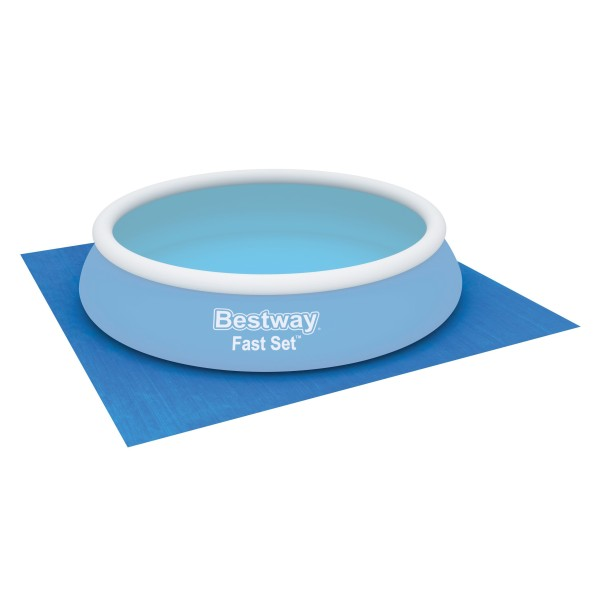 Flowclear™ quadratische Bodenplane, 488 x 488 cm, für Aufstellpools bis Ø 457 cm, blau