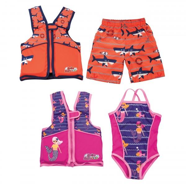 Swim Safe™ 2-teiliges Schwimmwesten-Set mit Textilbezug für Kinder 3-6 Jahre (M/L)