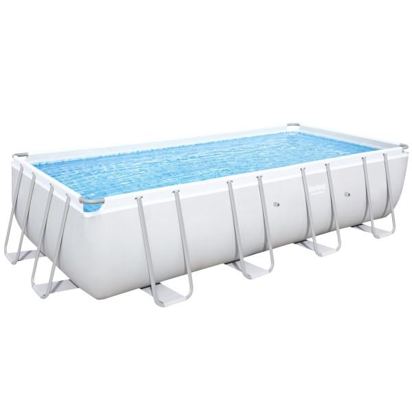 Bestway® Ersatzpool Power Steel™ Frame Pool, 488 x 244 x 122 cm, ohne Zubehör, eckig, grau