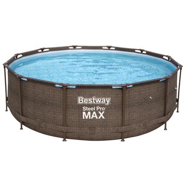 Bestway® Ersatzpool Steel Pro Max™ Framepool 366x100 cm, ohne Zubehör, rund, Rattanoptik