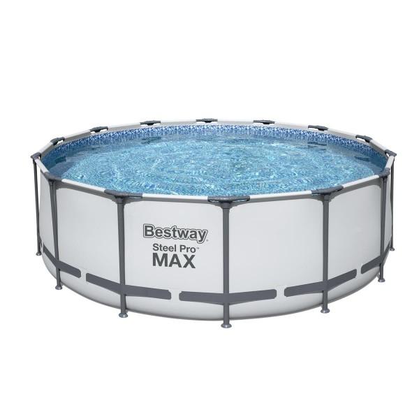 Bestway® Ersatzpool Steel Pro MAX™ Frame Pool, 427 x 122 cm, ohne Zubehör, rund, weiß
