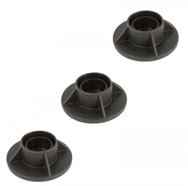 Bestway® Ersatzteil 3er Set Stützfüße (schwarz) für Power Steel™ Pool 732 x 366 x 122 cm, Holz-Opti