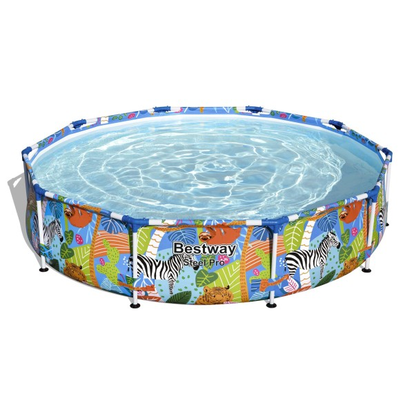 Steel Pro™ Frame Pool, 305 x 66 cm, ohne Pumpe, rund, bunt