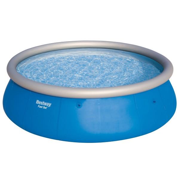 Bestway® Ersatzpool Fast Set™ Pool 457x122 cm, aufblasbar ohne Zubehör, rund, blau