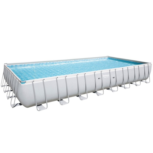 Bestway® Ersatzpool Power Steel™ Frame Pool, 956 x 488 x 132 cm, ohne Zubehör, eckig, grau