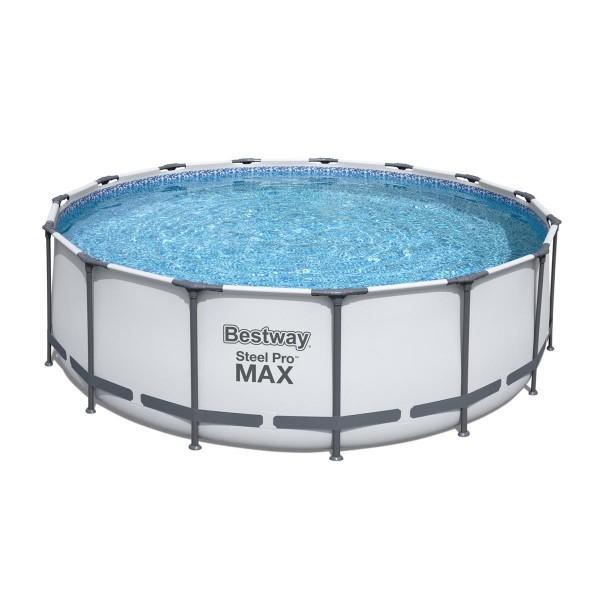 Bestway® Ersatzpool Steel Pro MAX™ Frame Pool, 457 x 122 cm, ohne Zubehör, rund, weiß