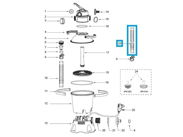 Bestway® Ersatzteil Schlauch (450 cm, 32 mm) für Flowclear™ Sandfilteranlagen