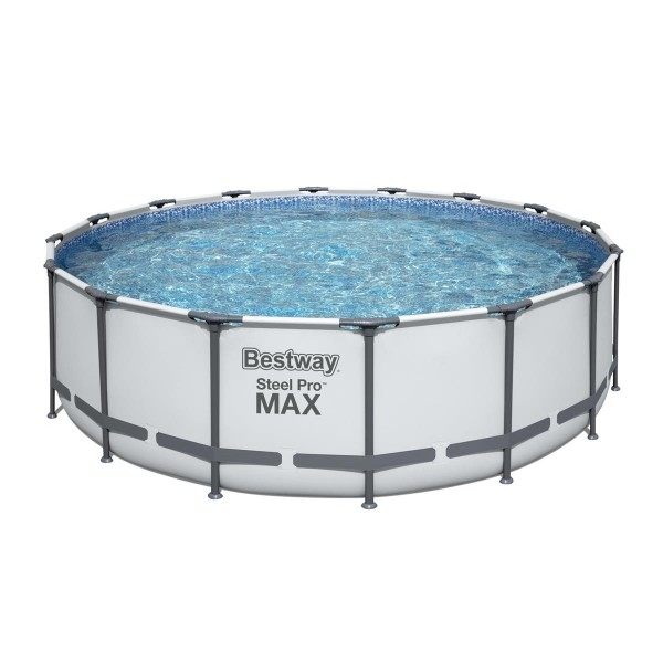 Bestway® Ersatzpool Steel Pro MAX™ Frame Pool, 488 x 122 cm, ohne Zubehör, rund, weiß