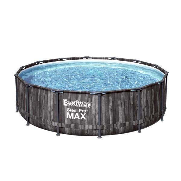 Bestway® Ersatzpool Steel Pro MAX™ Frame Pool, 427 x 107 cm, ohne Zubehör, rund, Holz-Optik