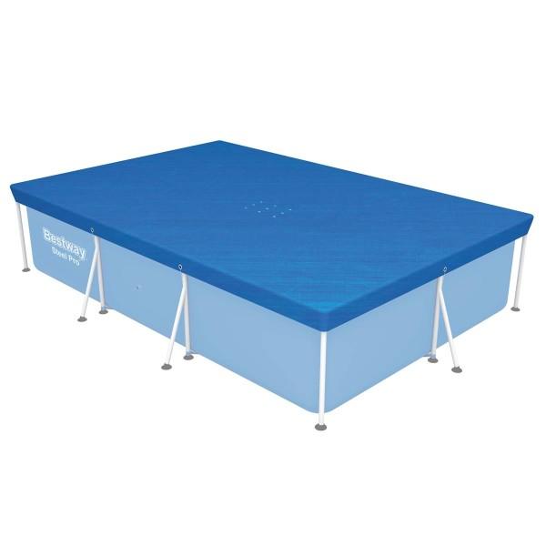 Flowclear™ PE-Abdeckplane 304 x 205 cm, für eckige 300 x 201 cm Steel Pro™ Pools, blau